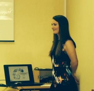 Delphine Merger, lors de la défense de sa thèse d'état de docteur en pharmacie, le 20 mars 2014