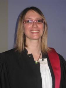 Myriam Berruyer, lors de la défense de sa thèse pour le diplôme d'état de Docteur en pharmacie, le 14 avril 2014