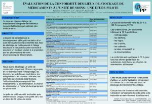 Affiche présentée au congrès de l'APES, 24-26 avril 2013, Québec