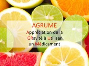 La cote AGRUME : Appréciation de la GRavité à Utiliser un Médicament