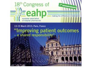 Congrès 2013 de l'European Association of Hospital Pharmacists