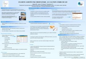 Affiche présentée au congrès de l'APES, 24-26 avril 2013, Québec.