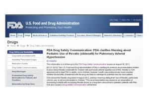 Avis de la Food and Drug Administration