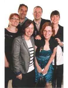 De gauche à droite, Caroline Morin, Jean-François Bussières, Hélène Roy, Denis Lebel, Roxane Therrien et Élaine Caron, pharmaciens au CHU Sainte-Justine.