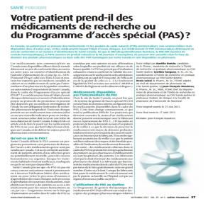 Article publié dans le Québec Pharmacie