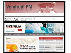 Sites Internet de déclaration de ruptures d'approvisionnement de médicaments