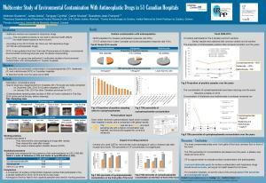 Affiche de l'étude réalisée en 2014 présentée au 2014 Midyear Clinical Meeting de l'ASHP, Anaheim 7-11 décembre 2014 / Poster of the 2014 study