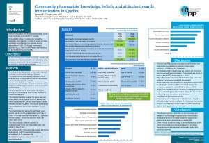 Affiche présentée à la Conférence canadienne sur l'immunisation/ Canadian Immunization Conference  2014, les 2-4 décembre 2014 à Ottawa, Canada.