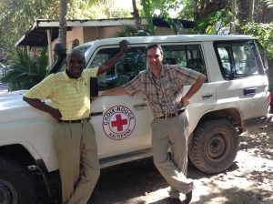 Jean-François Bussières et Dr Jean Lafontant Maurice, lors de la mission humanitaire en Haïti (24 février au 6 mars 2015).