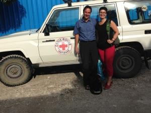 Jean-François Bussières et Sylvie Labranche, lors de la mission humanitaire en Haïti (31/08-09/09/2014).