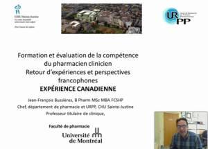 Présentation donnée par JF Bussières, 23 avril 2015