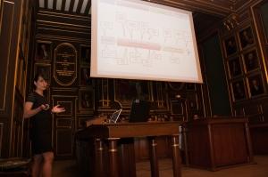 Aurélie Guérin à la soutenance de sa thèse pour le diplôme d'état de Docteur en pharmacie, le 29 mai 2015