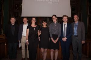 Membres du jury, de gauche à droite Dr Paubel, Pr Farinotti, Dr Prot-Labarthe, Mme Guérin, Mme Tanguay, Pr Bourdon, M Bussières