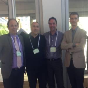 Panélistes invités, de gauche à droite, Philippe Arnaud, Stéphane Honoré, Jean-François Bussières et Pierrick Bedouch;  sont absents sur la photo Francoise De Crozals et Jacques Trevidic.