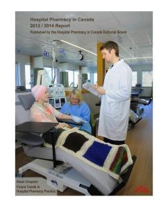 Rapport sur la pharmacie hospitalière canadienne 2013-2014